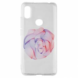 Чехол для Xiaomi Redmi S2 Abstract rose from the lines