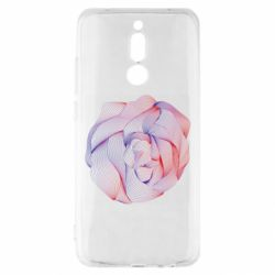 Чехол для Xiaomi Redmi 8 Abstract rose from the lines
