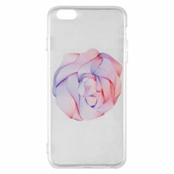 Чехол для iPhone 6 Plus/6S Plus Abstract rose from the lines