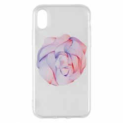 Чехол для iPhone X/Xs Abstract rose from the lines