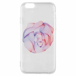 Чехол для iPhone 6/6S Abstract rose from the lines