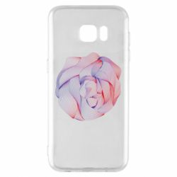 Чехол для Samsung S7 EDGE Abstract rose from the lines