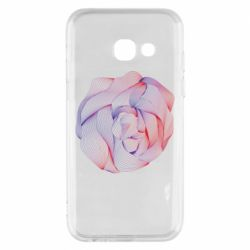 Чехол для Samsung A3 2017 Abstract rose from the lines