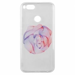 Чехол для Xiaomi Mi A1 Abstract rose from the lines
