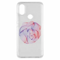 Чехол для Xiaomi Mi A2 Abstract rose from the lines