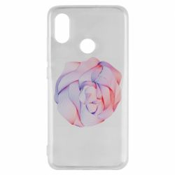 Чехол для Xiaomi Mi8 Abstract rose from the lines
