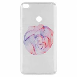 Чехол для Xiaomi Mi Max 2 Abstract rose from the lines
