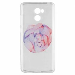 Чехол для Xiaomi Redmi 4 Abstract rose from the lines