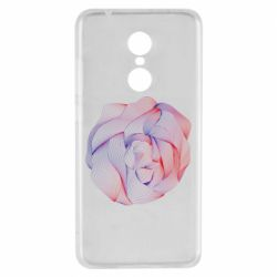 Чехол для Xiaomi Redmi 5 Abstract rose from the lines