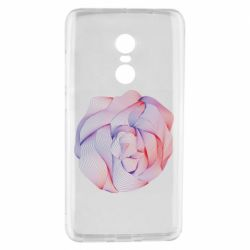 Чехол для Xiaomi Redmi Note 4 Abstract rose from the lines