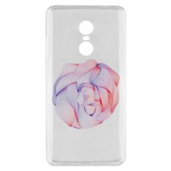 Чехол для Xiaomi Redmi Note 4x Abstract rose from the lines