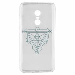 Чехол для Xiaomi Redmi Note 4 Abstract triangle and line symbol