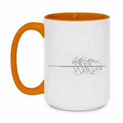 Кружка двоколірна 420ml Abstraction mountains and triangles