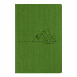 Блокнот А5 Abstraction of mountains drawn by lines