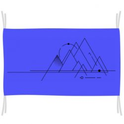 Прапор Abstraction of mountains drawn by lines