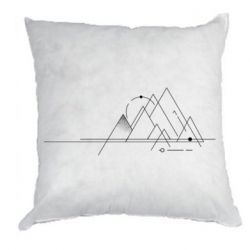 Подушка Abstraction of mountains drawn by lines