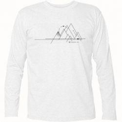 Футболка з довгим рукавом Abstraction of mountains drawn by lines