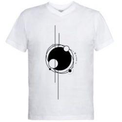 Чоловіча футболка з V-подібним вирізом Abstraction of the planets