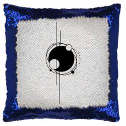 Подушка-хамелеон Abstraction of the planets