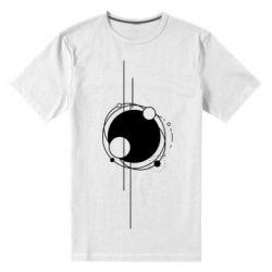 Чоловіча стрейчева футболка Abstraction of the planets