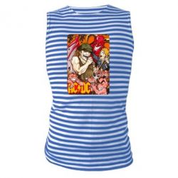 Майка-тельняшка AC DC Art Banner