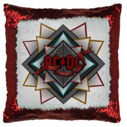 Подушка-хамелеон AC/DC Art Logo
