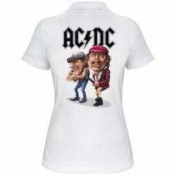 Жіноча футболка поло AC/DC Art
