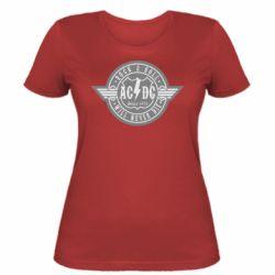 Женская футболка AC/DC gray