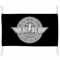 Флаг AC/DC gray