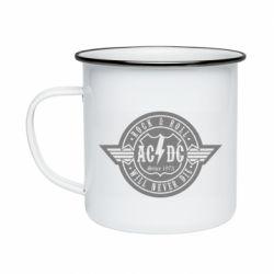 Кружка эмалированная AC/DC gray