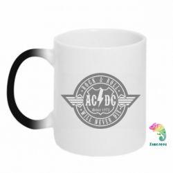 Кружка-хамелеон AC/DC gray