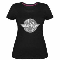 Женская стрейчевая футболка AC/DC gray