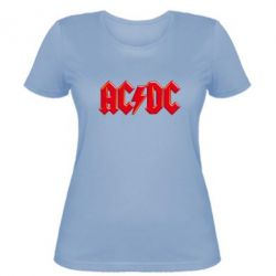 Женская футболка AC/DC Red Logo - FatLine