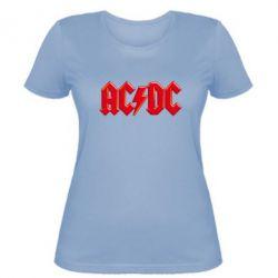 Жіноча футболка AC/DC Red Logo