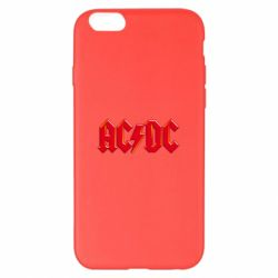 Чехол для iPhone 6 Plus/6S Plus AC/DC Red Logo