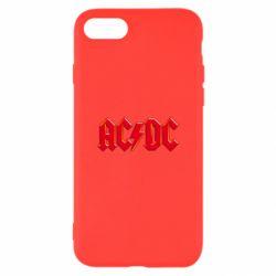 Чехол для iPhone 7 AC/DC Red Logo