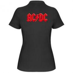 Женская футболка поло AC/DC Red Logo - FatLine