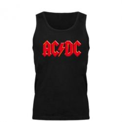 Мужская майка AC/DC Red Logo - FatLine
