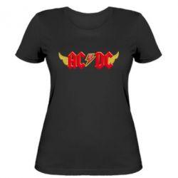 Женская футболка AC/DC с крыльями