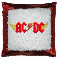 Подушка-хамелеон AC/DC з крилами