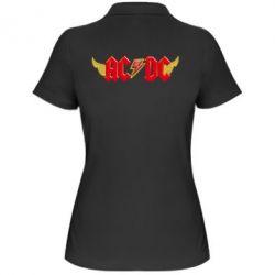 Женская футболка поло AC/DC с крыльями - FatLine