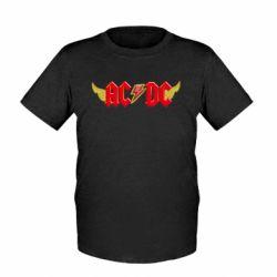 Детская футболка AC/DC с крыльями - FatLine