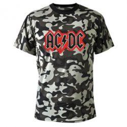 Камуфляжная футболка AC/DC Vintage - FatLine