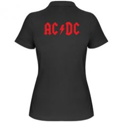 Женская футболка поло AC DC - FatLine