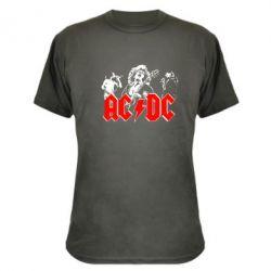 Камуфляжная футболка AC DC - FatLine