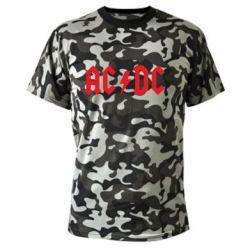 Камуфляжна футболка AC DC - FatLine