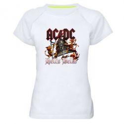 Жіноча спортивна футболка AC DC