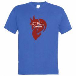 Чоловіча футболка з V-подібним вирізом AC Milan il diavolo