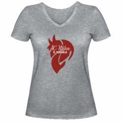 Жіноча футболка з V-подібним вирізом AC Milan il diavolo