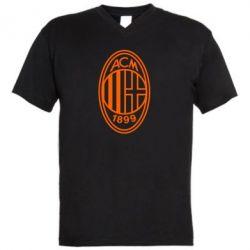 Чоловіча футболка з V-подібним вирізом AC Milan logo